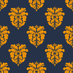 Colorful yellow arabesque seamless pattern