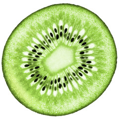 Juicy organic Kiwifruit isolated composition