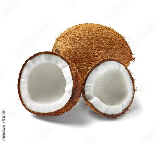 canvas print picture coconut fruit food tropical nut