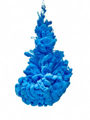 blue color paint ink pigment splash