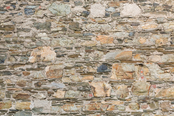 Old Stone and Mortar Wall for Background