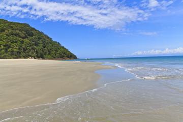 Clean beach at As ilhas in Barra do Sahy