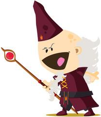 Magicien de conte de fée