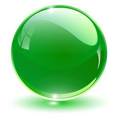 Glass sphere green,