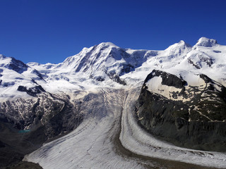 The Gorner Glacier, majestic view in Switzerland