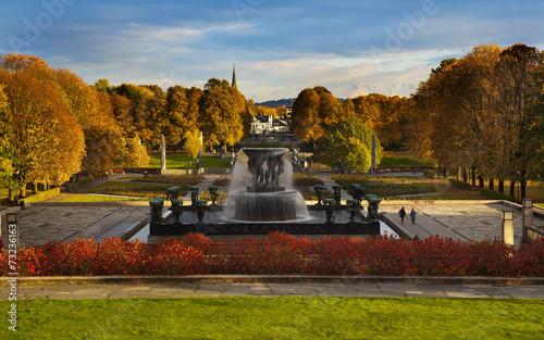 Vigeland Park or Frogner Park (Norwegian: Frognerparken), Oslo, - 73236163