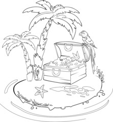 Coloring with Treasure island