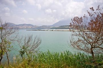 Beautiful lake in Butrint, Albania