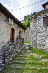 Old courtyard in Berat, Albania
