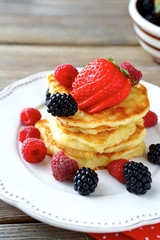 Pancakes with sweet berries