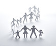 paper people community unity togetherness - 73237559