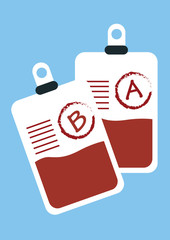 blood donation bag. vector illustration