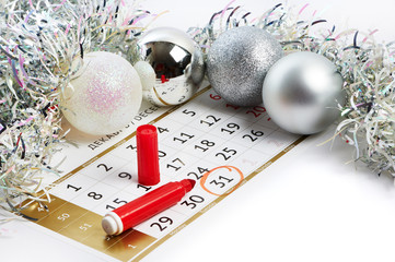Christmas calendar and prepare for New Year your text