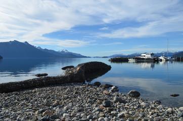 Small harbour in lake Nahuel Huapi, Bariloche
