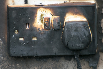 electrical socket fire