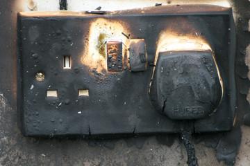 electrical socket fire