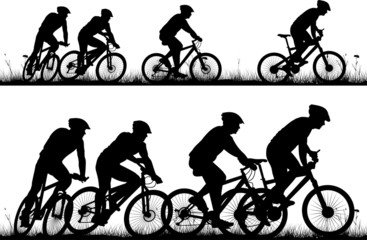 bike - vector silhouette and icon