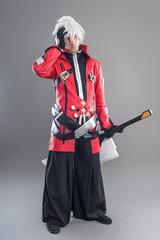 Manga hero with sword