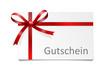 Schleife Karte Gutschein - 73239189