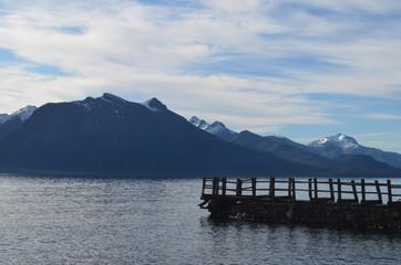 Pier in Lake Nahuel Huapi, Patagonian Andes, Bariloche