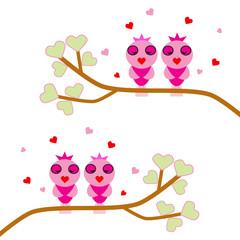 cute bird valentine background