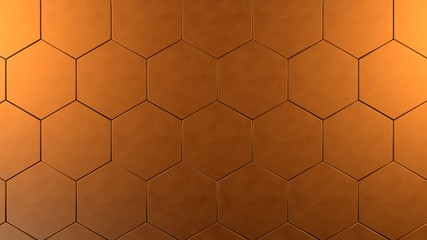 copper hexagon background