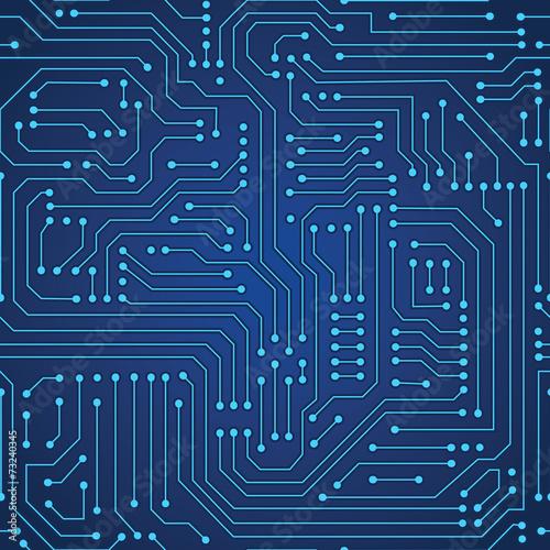 Fotobehang Kunstmatig circuit board seamless pattern