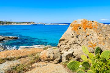 View of Sardinia island coast near Campulongu beach, Italy