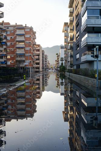Inundation of lake Maggiore at Locarno