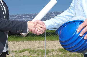 Solar panel handshake