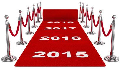 roter teppich Jahreswechsel