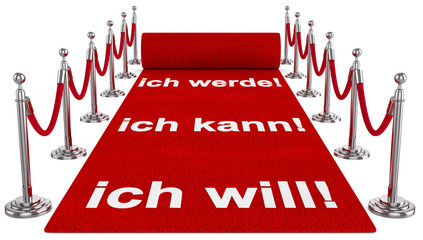 roter Teppich Motivation