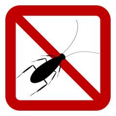 No cockroach sign