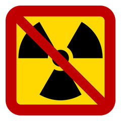 No nuclear weapons sign