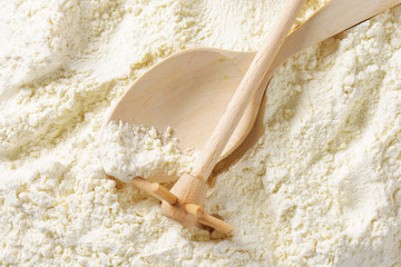 Wheat flour and cooking utensils