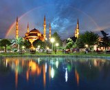 Fototapety Istanbul with rainbow - Blue mosque, Turkey