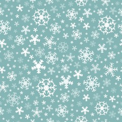 Seamless background snowflakes 5
