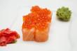 Philadelphia roll with smoked salmon and caviar