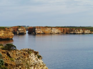 Australian coastal park with ocean views and geological features