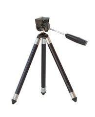 Small tripod isolated on white background