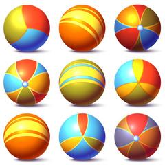 Vector set of children balls