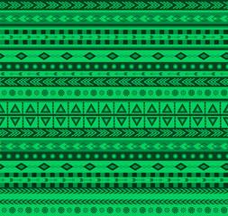 green aztec pattern