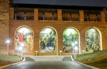 Кремлевская стена. Коломна. Ночь
