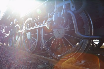 Steam Locomotive Sun Flare