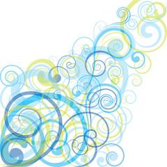 Blue spiral background design