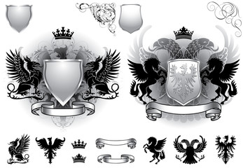 Shield gray heraldry