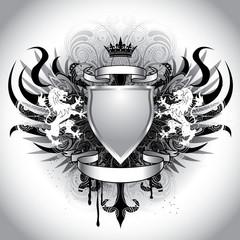 Heraldry grunge crest