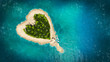 Leinwanddruck Bild -  heart island
