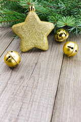 Christmas jingle bells with golden star
