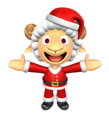 3D Santa Sheep mascot has been welcomed with both hands. 3D Anim